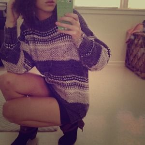  Vintage Oversized Knit Pullover Sweater 