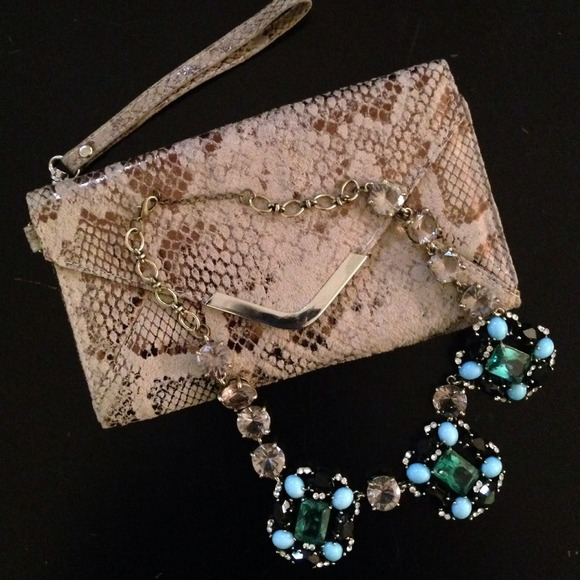 Clutches & Wallets - Gorgeous Snakeskin Clutch/ Wallet