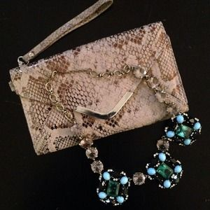 Bags - Gorgeous Snakeskin Clutch/ Wallet