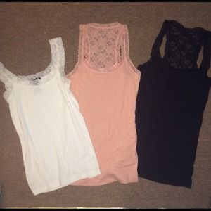SOLD Lace tank bundle