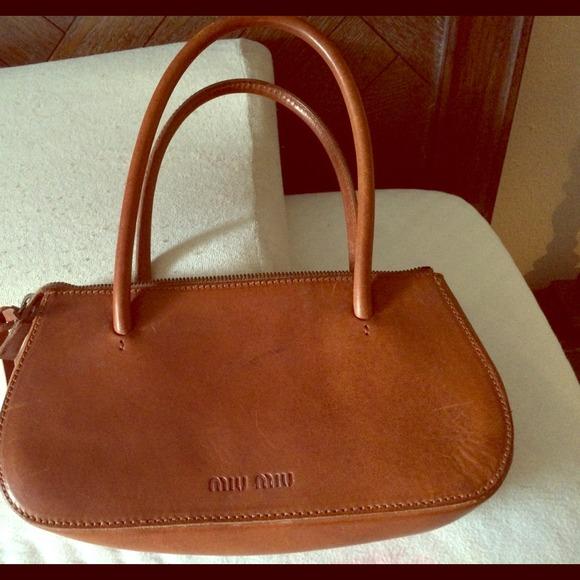 Vintage AUTHENTIC miu miu brown purse. M 527155eab532137b48015d55 cf9c7d2170