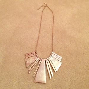 Silver Egyptian Bib Necklace