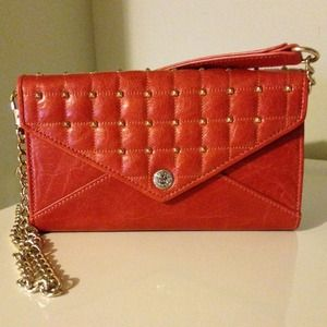 REBECCA MINKOFF Leather & Studs Wallet/Clutch