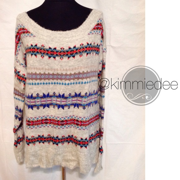 71% off American Eagle Outfitters Sweaters - Oversized Fair Isle ...