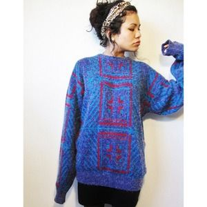 Vintage Sweaters - 🍩TEMP HOLD 🍩oversized geometric sweater tunicl