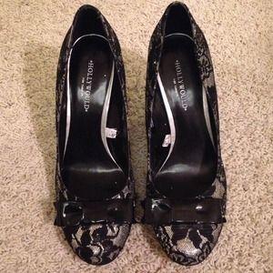 d067b0f7c9a1 Target Shoes - ✳️NWOT✳️Target Black Lace Silver Glitter Heels