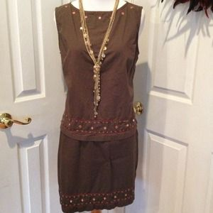 Sleeveless top and skirt set