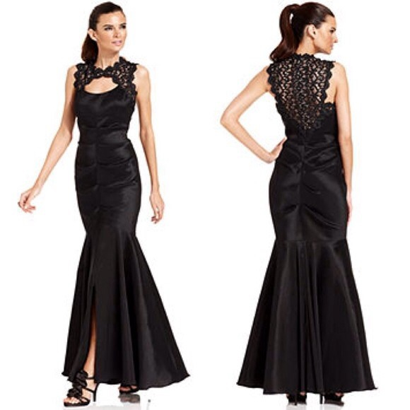 Xscape Dresses | Black Mermaid Style Prom Dress | Poshmark
