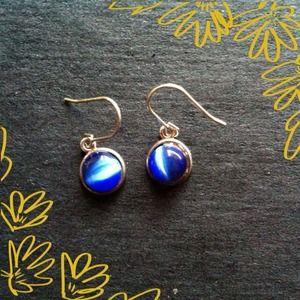 Sterling silver cats eye earrings