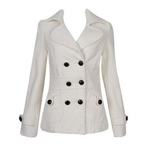 Forever 21 cream peacoat