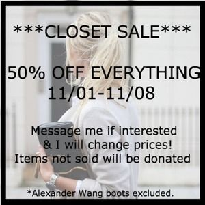 FALL SALE - 50% off everything!