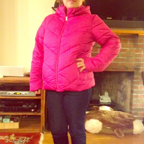 50% off Outerwear - Hot pink bubble jacket! from Ceci's closet on ...