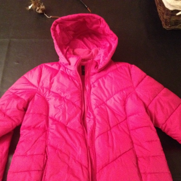 50% off Outerwear - Hot pink bubble jacket! from Ceci&39s closet on