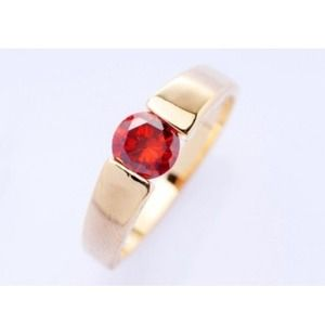 Red Crystal Ring Band