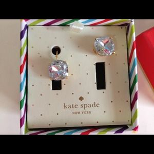 Kate Spade diamond looking earrings! NEW!!!