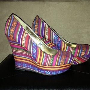 Mossimo Multi-color Wedge Heels