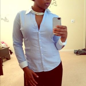 SOLD! Classic Blue Button-Up