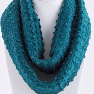 Accessories - Dome Infinity Scarf/Teal. Price Firm