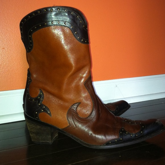 Stuart Weitzman Leather Western Boots