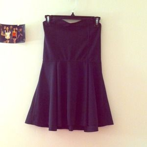 Black Sweetheart strapless skater dress