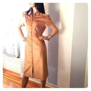 Butterscotch silky soft corderoy dress