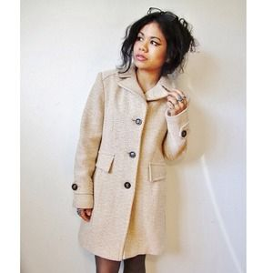 Golden beige taupe winter jacket coat