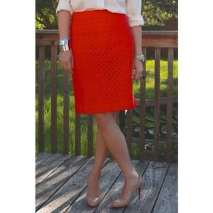J. Crew Ultra Eyelet No. 2 Pencil Skirt