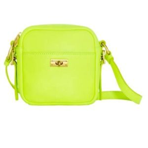 J crew cross body neon yellow