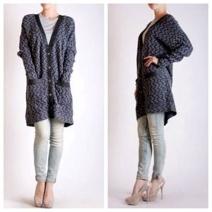 lustsforlife.com Jackets & Coats - 💢Reduced💢Tweed coat with faux leather accents