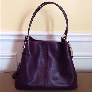 Coach Bags - 🎉Sale🎉Coach Black Violet Small Phoebe