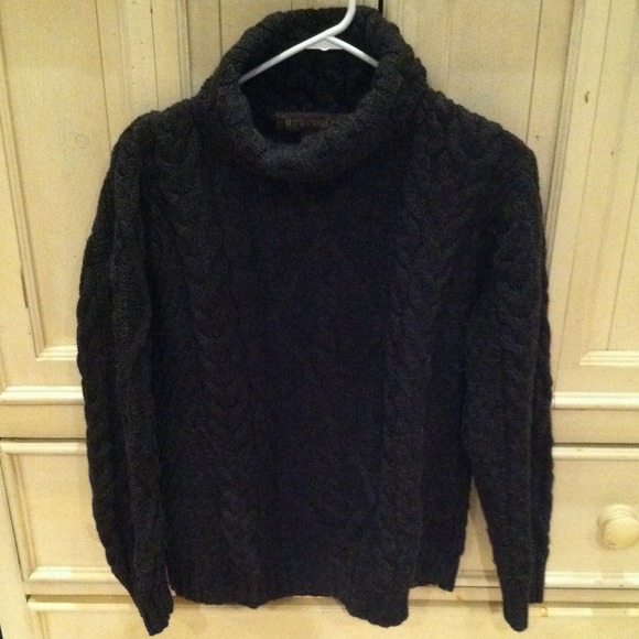 80 off inis crafts sweaters thick black wool irish for Inis crafts ireland sweater