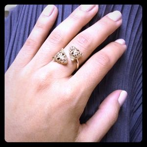 Gold leopard / tiger ring