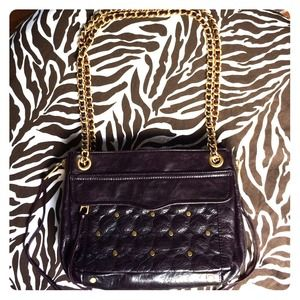 Rebecca Minkoff Quilted Swing Leather Bag.