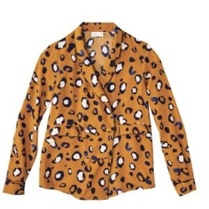 3.1 Phillip Lim Tuxedo Shirt in Animal Print