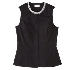 Phillip Lim Sequined Peplum Top in Black