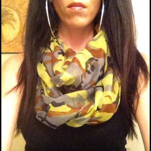 Kristee P Accessories - Lime Green Camo Infinity Scarf