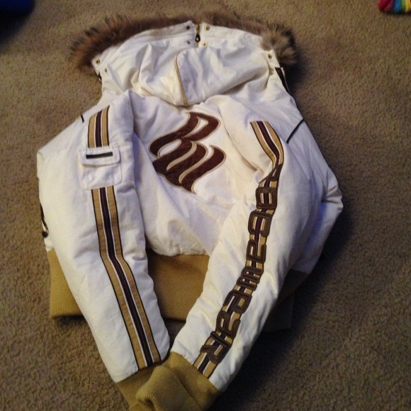 Large Cream And Brown Rocawear Coat Poshmark