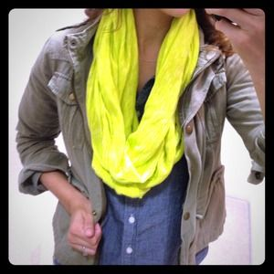 SOLD!! Neon yellow infinity scarf