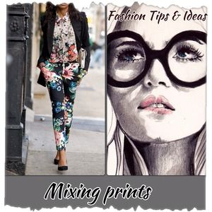 Mixing prints & patterns can be done successfully