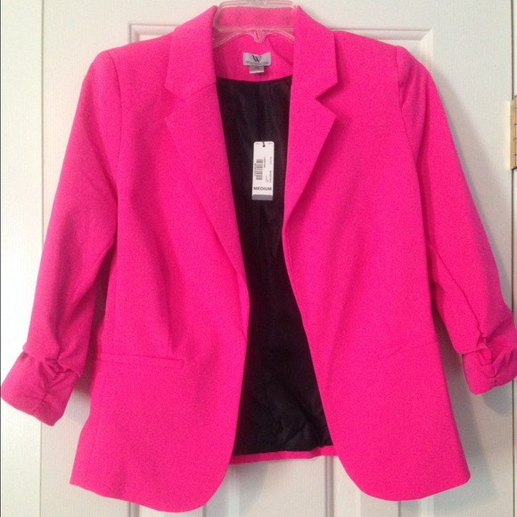 36% off worthington Jackets & Blazers - 🎉reduced🎉Hot pink blazer ...