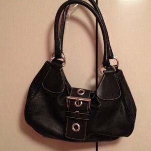 Black Prada Buckle Handbag