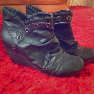 Blowfish Leather Wedge Boots!