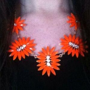 Bright Orange Statement Necklace