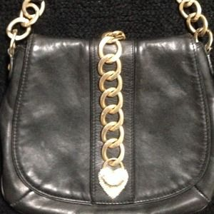 Juicy Couture Handbags - * JUICY Black Leather Shoulder/Crossbody Bag*