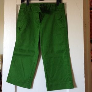 J. Crew Green Cropped Pants