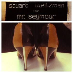 Sweet Stuart Weitzman Tri-Color Block Pumps  Vtg🎒