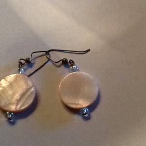 Pink opalescent earrings