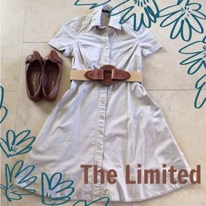 The Limited Dresses & Skirts - The Limited Khaki Shirtdress