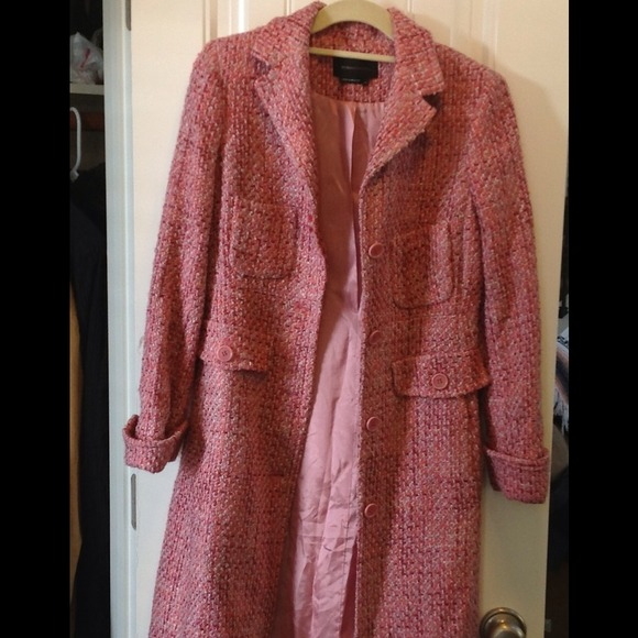 86% off BCBGMaxAzria Outerwear - Pink tweed BCBG coat from ...