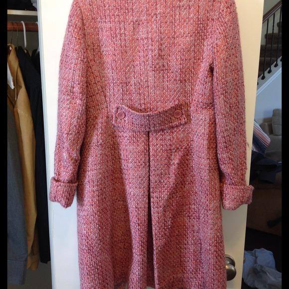 Pink Tweed Coat Coat Nj